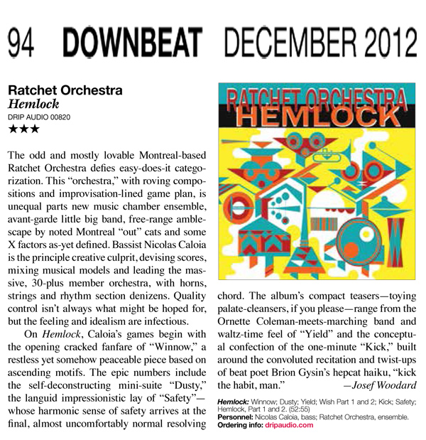 Ratchet Orchestra Downbeat review