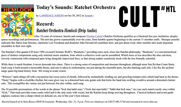 Ratchet Orchestra Cult Review
